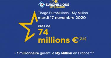 Euromillions du Mardi 17 novembre 2020