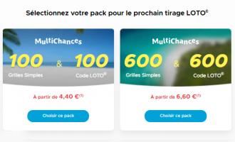 Sélectionnez votre Pack MultiChances Loto