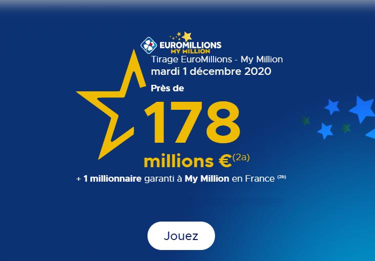 Résultat Euromillions My Million Du Mardi 01 Décembre 2020 Enquête Débat