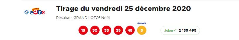 Tirage Grand Loto de Noel 2020