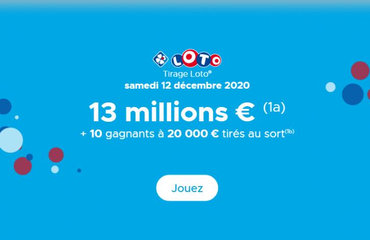 Tirage loto du Samedi 12 décembre 2020 & secret pour gagner