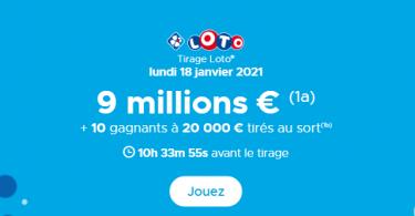 Tirage loto du lundi 18 janvier 2021 & évolution des prix du ticket