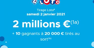 Tirage loto samedi 02 janvier 2021