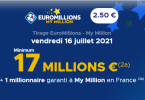 Euromillions 16 juillet 2021